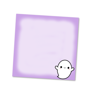 Spooky Ghost Sticky Notes