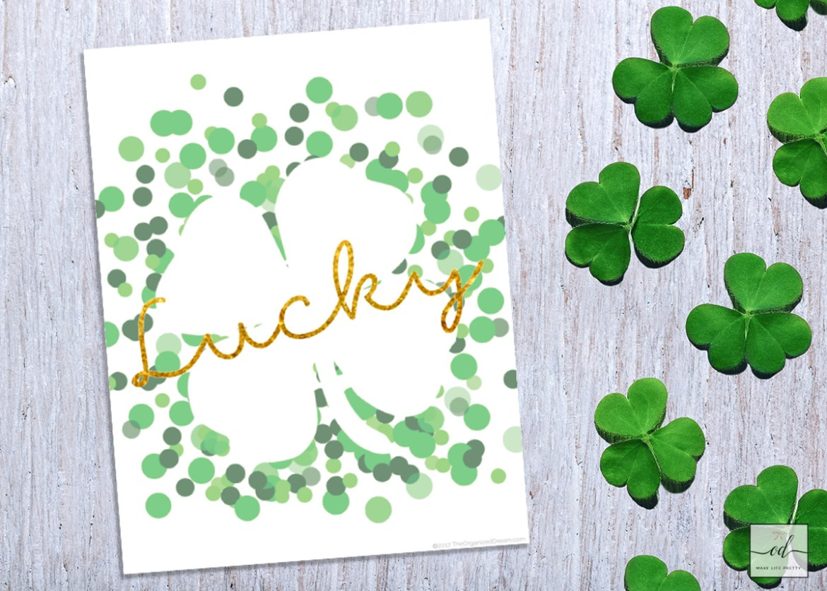 Free St. Patrick's Day Lucky Printable