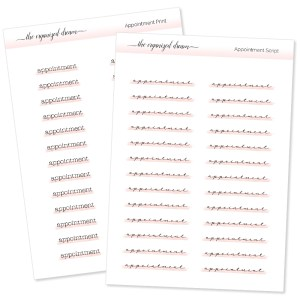 Appointment Highlight Script Stickers