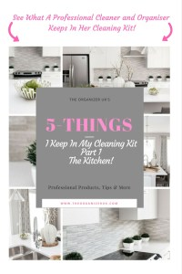 Read what the professionals keep in their cleaning kit!