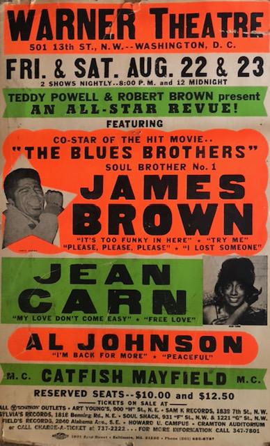 James Brown Aug 22 & 23
