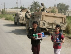 Kids would run out to sell us soda anytime we stopped a patrol
