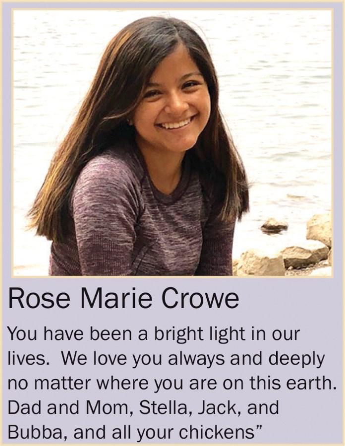 Rose Marie Crowe June 2020