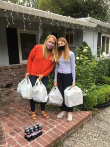 (Courtesy of Seniors Around Town) Jenny and Brook Parker delivered food to seniors during the pandemic as part of The Orinda  Association's Seniors Around Town program.
