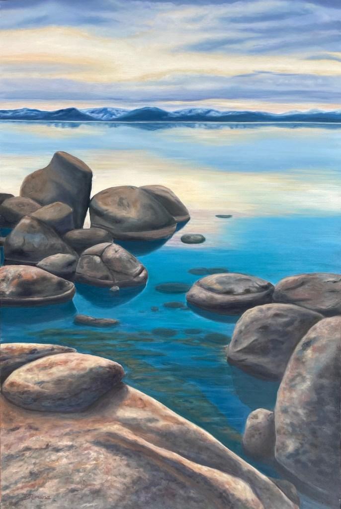 """Denise Nomura, """"Dusk at Sand Harbour"""""""