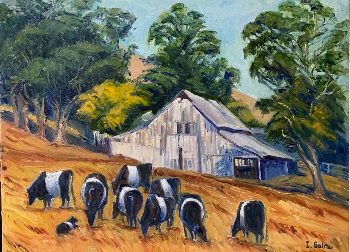 """Irene Sabre, """"Belted Cows"""""""