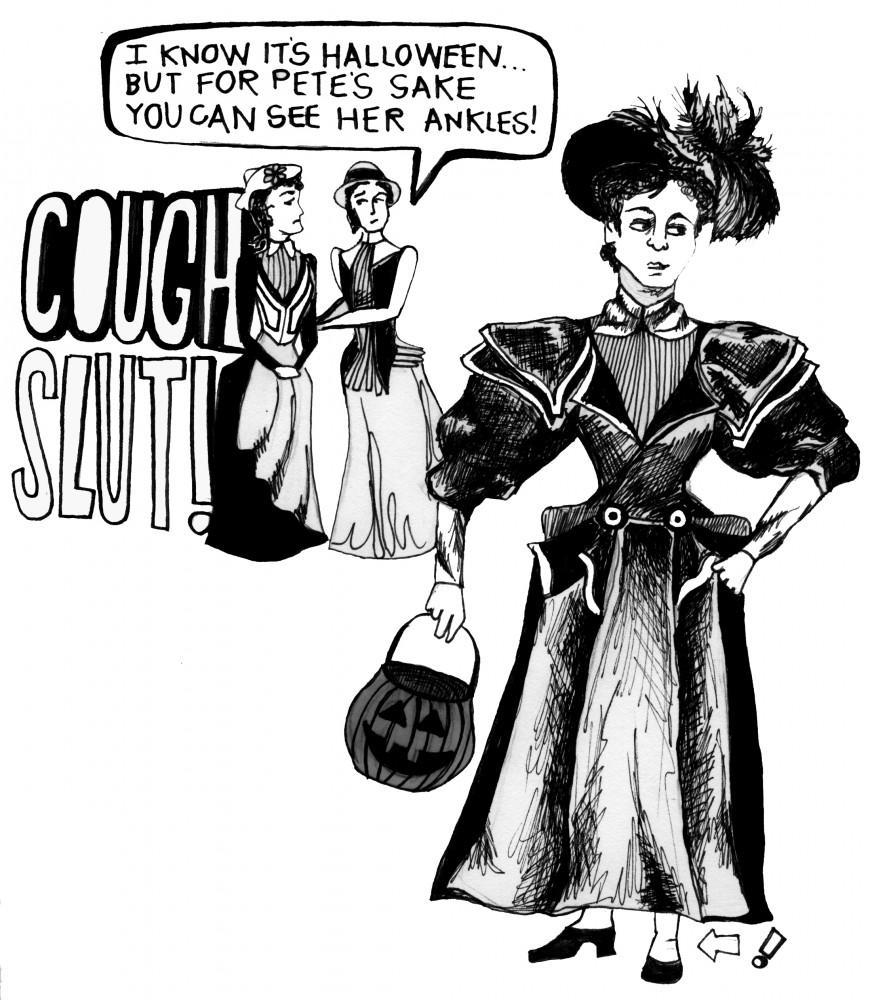 Scantily-clad women, strut without shame