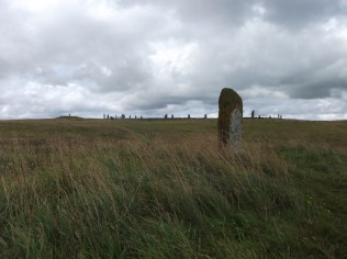 looking up at Brodgar (photo B Bell)