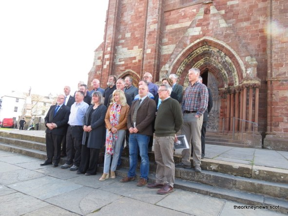 The newly elected councillors for Orkney