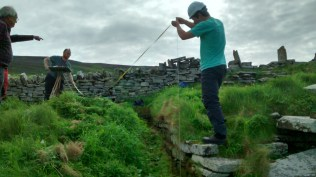HES archaeologists and surveyors going old school (F Grahame)
