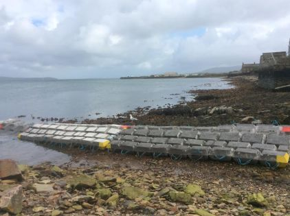 pipe laying Stromness ( Photo Orkney Fisheries)