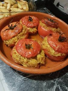 Curried rice stuffed tomatoes