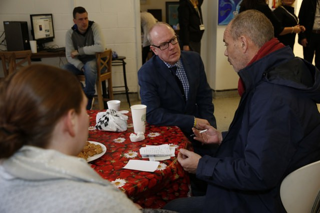 Housing Minister Kevin Stewart visit Streetwork Edinburgh.