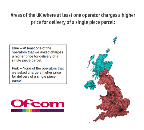 map of delivery charges