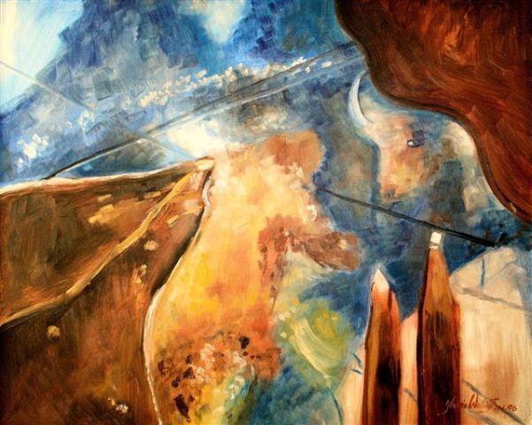Gloria Wallington painting