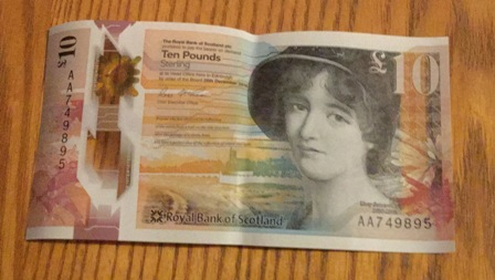 £10 note Mary Sommerville