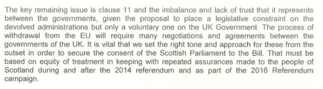 Nicola Sturgeon Letter