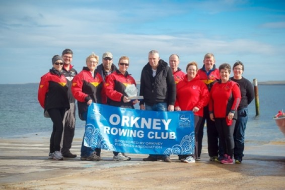 Orkney Fisheries Association commmision a trophy for Orkney Rowing Club