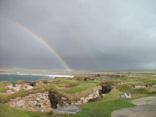 Skara Brae and rainbow