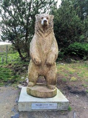 Hercules the Bear statue North Uist