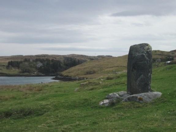 single stumpy stone Bernera Lewis B Bell