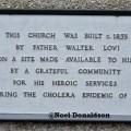Father Walter Lovi plaque