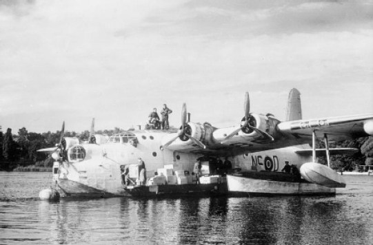 Sunderland 201 Sqn on Havel during Berlin Airlift 1948