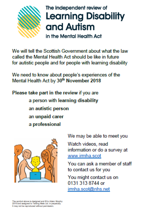 Survey for Mental Health Scotland Act 2