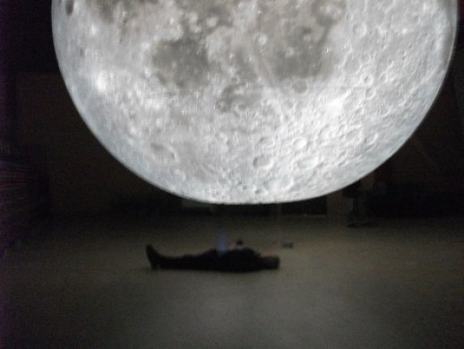 The Man in the Moon, has a bit of a lie-down. By B Bell
