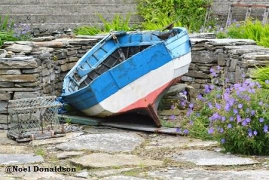 Westray boat and creel