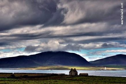 Clestrain Hall looking towards Hoy Image credit Martin Laird