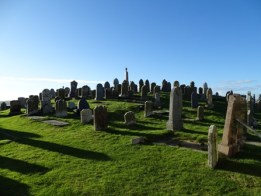 Harray churchyard B Bell graves on mound