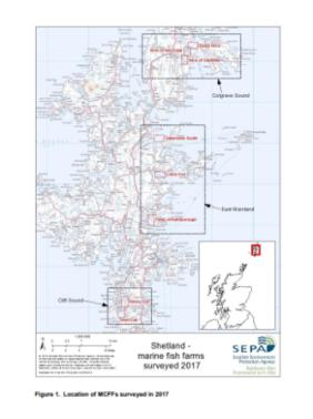 map of fish farm survey