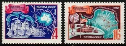 soviet union stamps on polar exploration