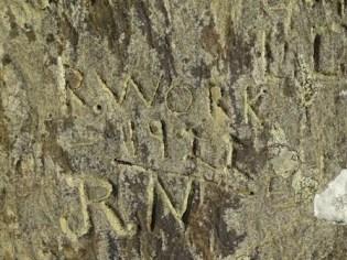 Brodgar graffiti initials 2 M Bell