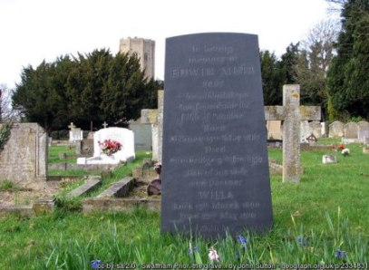 Edwin Muir's grave in Swaffham Prior, East Cambridgeshire