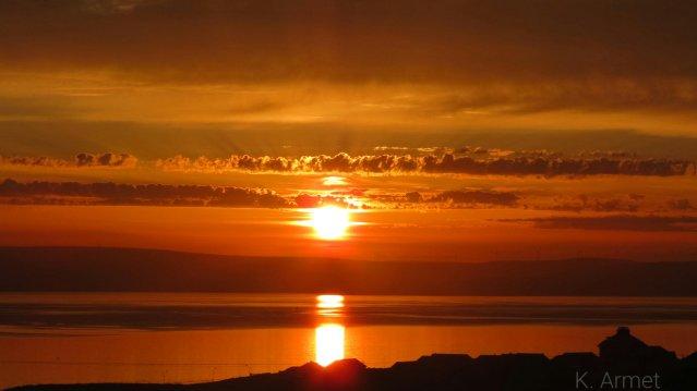 Sunset over Kirkwall Bay