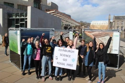 Edinburgh Science Festival Fossil Free