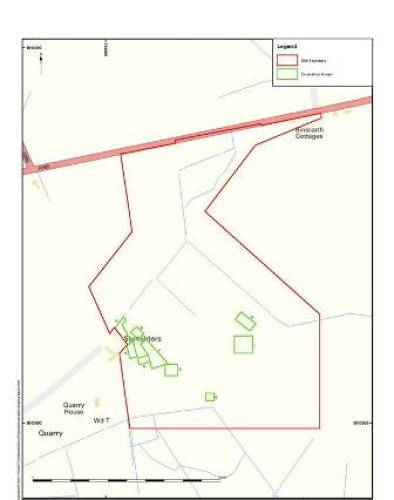 Proposed archaeology trenches at the substation site