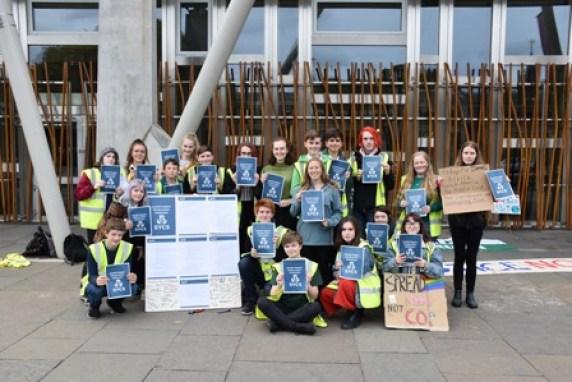 Climate change protest Scottish Parliament 26 Sept 2019