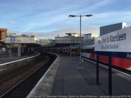Aberdeen Railway Station by David Robinson