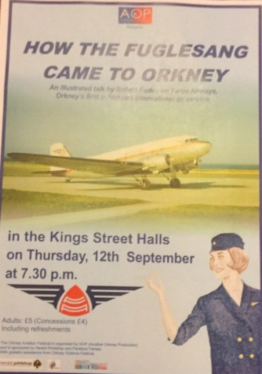 Orkney Aviation Festival 2019 poster