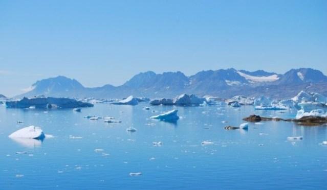 Arctic Fjord Greenland Iceberg Sermilik Sea Ice