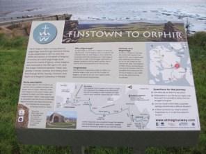St Magnus Way information board Iain Ashman Finstown credit: Bell