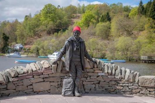 Tom Weir's statue