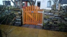 Orkney Men's Shed gate for a neighbour