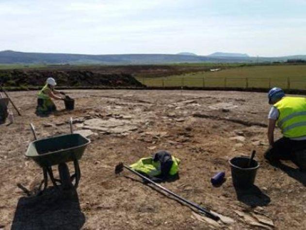 Bronze Age excavation Finstown