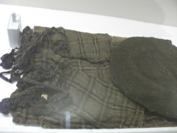 grave goods tartan cloth late 18thC Orkney museum