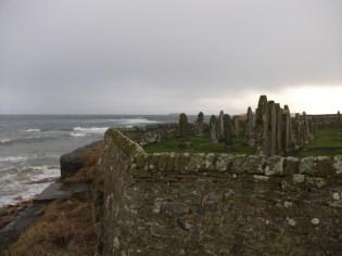 Deerness graveyard coastal erosion credit Bell