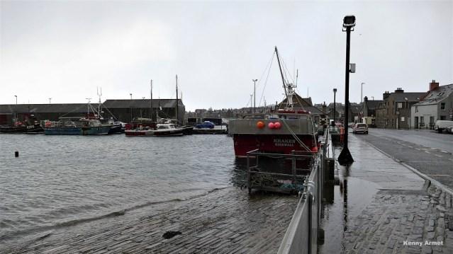 Kirkwall Harbour Flood gates 10th Feb2020